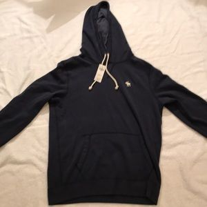 Abercrombie & Fitch Men's Navy Blue Hoodie
